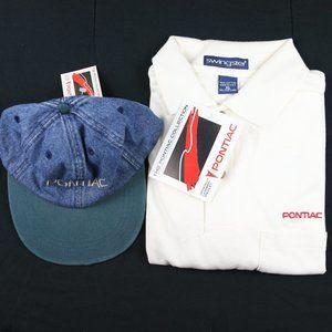 Other - Vintage Pontiac Collection Polo Hat Bundle RARE